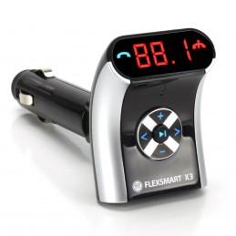 GOgroove FlexSMART X3 Mini - Transmetteur FM Bluetooth pour Voiture + Kit Main-libres