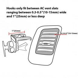 VentMountXL Support Téléphone Voiture Grille Ventilation Universel - Tête pivotante à 360°