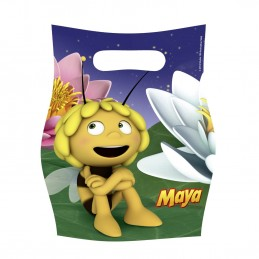 Amscan - Lot 6 sachets de fête, sac à bonbons Maya l'Abeille