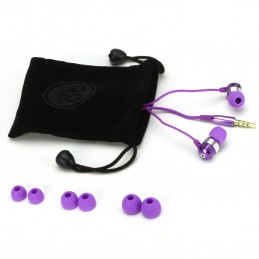 ACCESSORY POWER - GOgroove audiOHM HF Ecouteurs Intra Auriculaires Violet