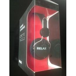 RELAX - Casque avec micro compatible téléphone portable, avec prise mini jack 3,5mm - réglage tour de tête et volume