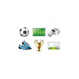 Riethmuller - 6 Stickers Adhésifs pour visage Football