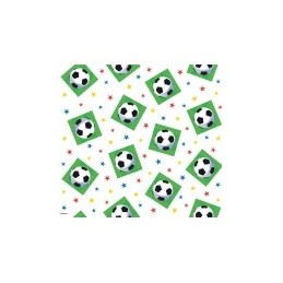 AMSCAN - NAPPE Plastifiée Football 137cm x 259cm