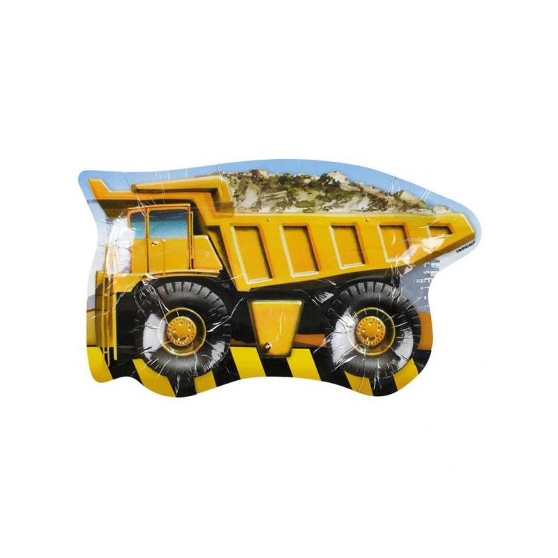AMSCAN - Lot 6 Assiettes en carton Camion de Construction