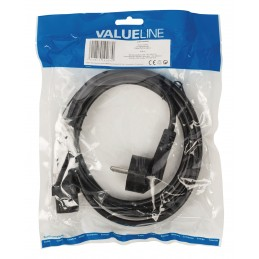 Câble d'alimentation 2m Schuko M - C13 Type F (CEE 7/4) - IEC-320-C13 Noir