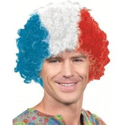 Riethmuller - Perruque France BLEU - BLANC - ROUGE 100% polyester