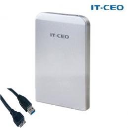 """IT-CEO - Boitier Gris (silver) USB 3.0 pour disque dur externe 2,5"""" SATA -compatible USB 2"""