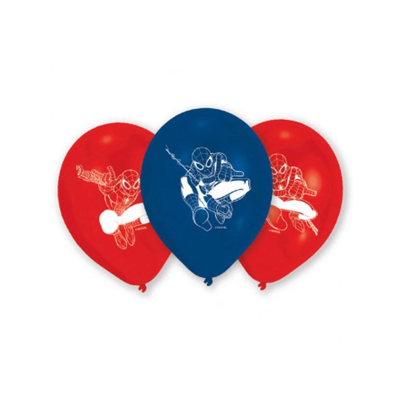 AMSCAN - 6 Ballons à gonfler Spiderman en Latex