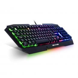 SOG Pro-K5 - Clavier semi-mécanique pour gamer, rétro-éclairage RGB (AZERTY, Français)