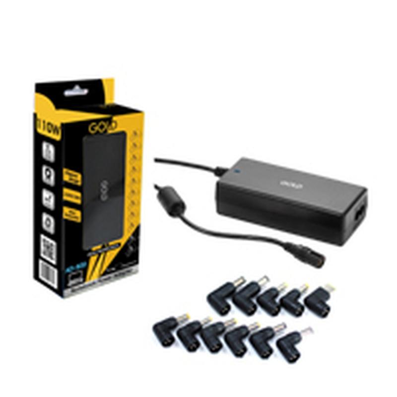 GOLD - Alimentation pour PC portable 110W  - 11 embouts universels AD 800