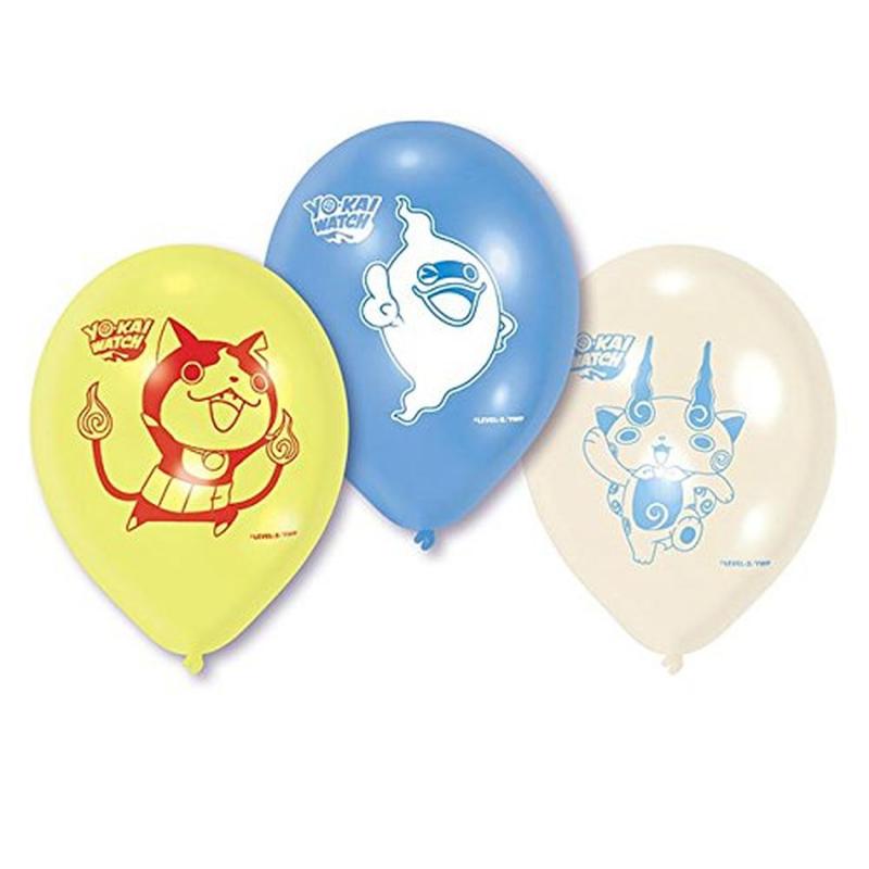 AMSCAN - LOT 6 Ballons de baudruche à gonfler Yo Kai Watch