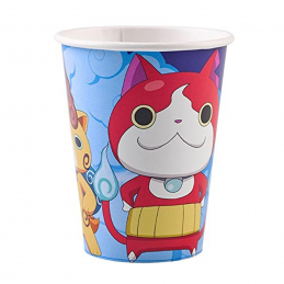 AMSCAN - LOT  8 Gobelets en carton 250ml YO KAI WATCH