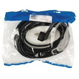VALUELINE - Câble d'alimentation 10m Schuko M - C13 Type F (CEE 7/4) - IEC-320-C13 Noir
