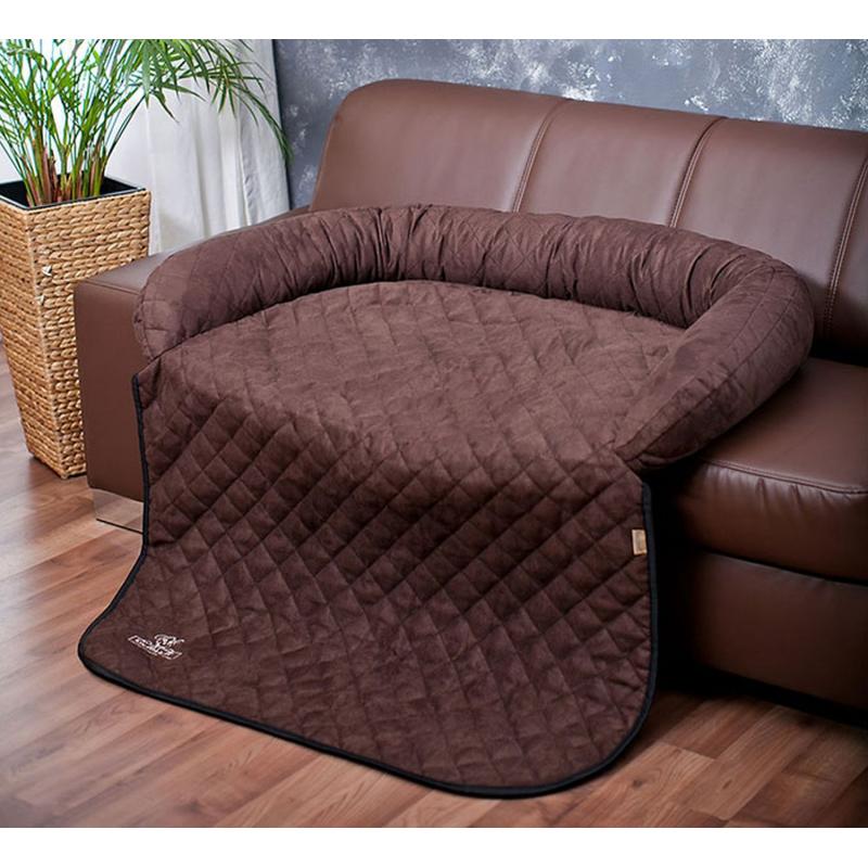 Protège-canapé et tapis BRUN S-M 85 x 70cm Berry pour chien  - Knuffelwuff