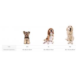 Tapis pour chien S - M Fim Exclusive Gris intérieur Noir - Knuffelwuff