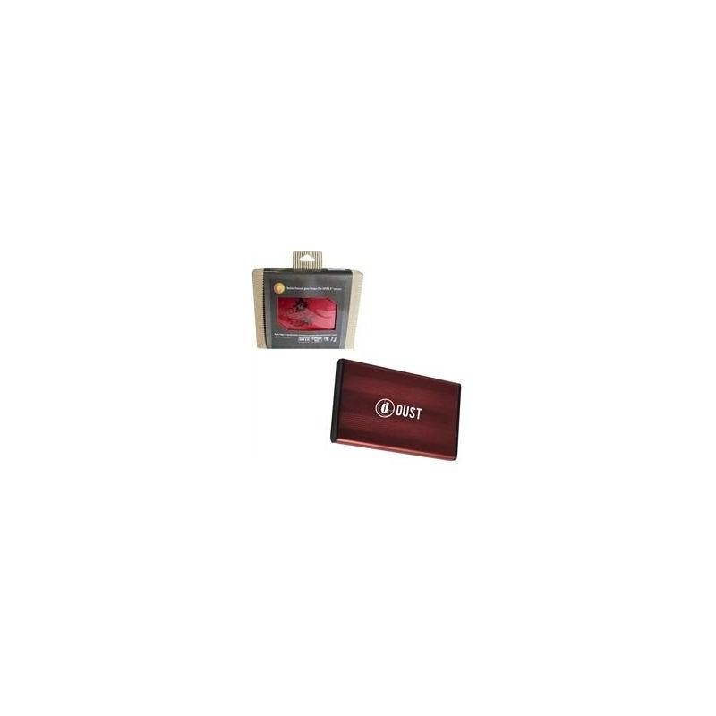 """DUST - Boitier Rouge pour disque dur externe 2.5"""" USB2 autoalimenté SATA Windows"""