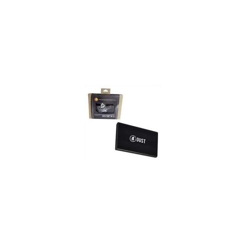 """DUST - Boitier Noir pour disque dur externe 2.5"""" USB2 autoalimenté SATA Windows"""