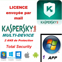 Kaspersky Total Security Multidevice 2021 1 App 2ANS PC Mac Android - Licence officielle par mail - ESD