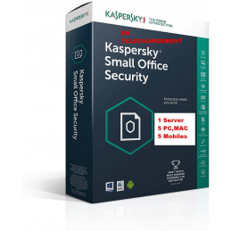 Kaspersky Small Office Security Vers 7 - 1 Serveur 5 Postes 5 Mobiles 1An