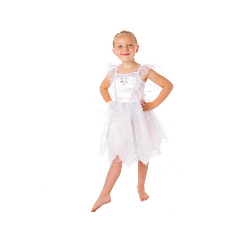 AMSCAN - Déguisement Fée Blanche aec des ailes - 4/6 ans