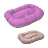 ZAMIBO Coussin ovale souple gris/mauve 100x60cm 60% coton- 40% polyester