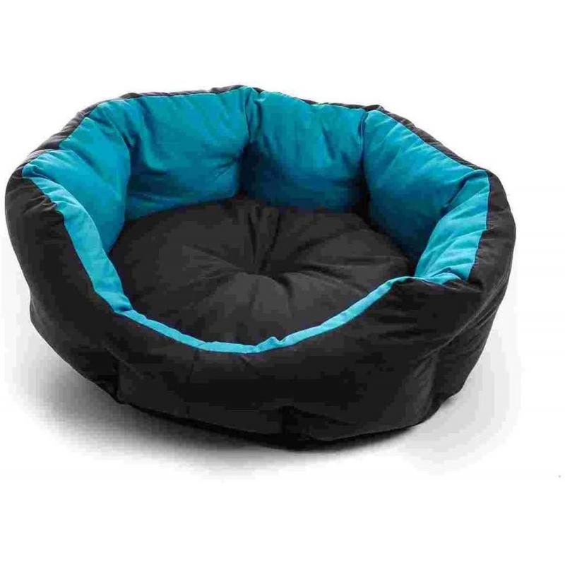 ZAMIBO Panier Souple Polycoton Oval pour Chien ou Chat avec Coussin Amovible 57 x 52 x 14 cm Bleu