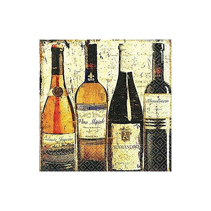 Paper+Design - Lot 20 Serviettes en papier Dégustation de vin 33x33cm