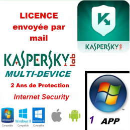 Kaspersky Internet Security Multidevice 2021 - 1 App 2 Ans PC Mac Android iOS - Licence officielle par mail - ESD