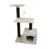ZAMIBO Arbre à chat maison tête de chat, 2 étages, jouet, 30x48x84cm, gris et noir