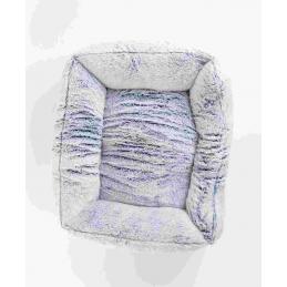 ZAMIBO Panier polaire antidérapant, 70x60x22 cm, gris