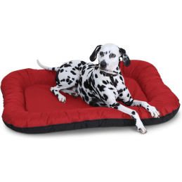Lit pour Chien XXL 118 x 85cm - Lucky - Rouge -  in et Outdoor, imperméable Knuffelwuff