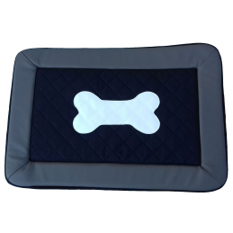 Tapis pour chien L - XL Fim Exclusive Gris intérieur Noir - Knuffelwuff
