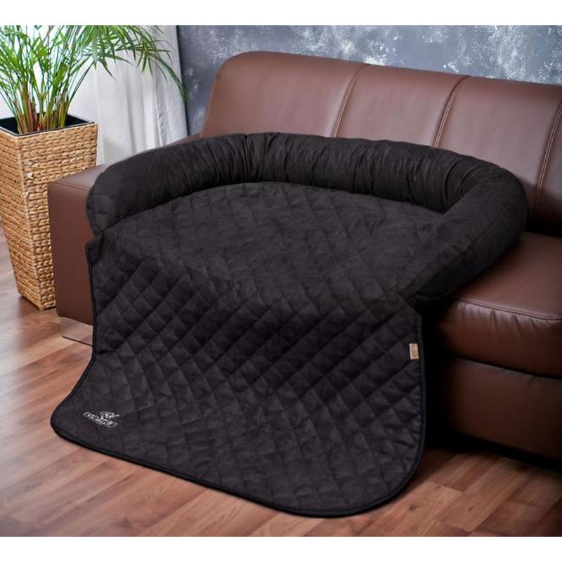 Protège-canapé et tapis NOIR S-M 85 x 70cm Berry pour chien  - Knuffelwuff