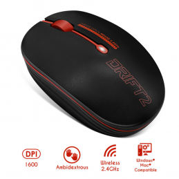 Souris wireless - sans fil-  Drift 2 Red - Rouge S-290RE Advance