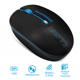 Souris wireless - sans fil-  Drift 2 Blue - Bleu S-290BL Advance