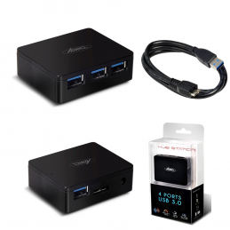 Hub Power Station 4 ports USB 3.0 Noir Advance