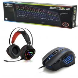 PACK GAMER pour PC : Clavier mécanique XPERT K500 + Souris USB rétroéclairée 7 boutons XM500+ Casque micro GT230