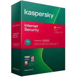 BOITE - Kaspersky Internet Security 2021 - 3 Appareils (PC, MAC, Android, iOS) 1 An de protection