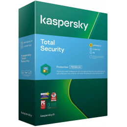 BOITE - Kaspersky TOTAL Security 2021 - 5 Appareils (PC, MAC, Android, iOS) 1 An de protection