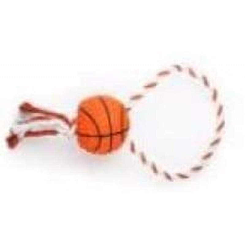ZAMIBO Corde 30 cm, ballon de basket 8 cm, orange