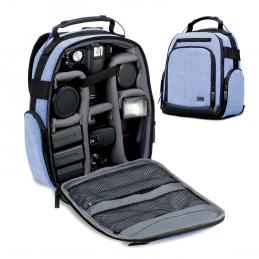 USA Gear Sac à Dos UBK - Bleu - Appareil Photo Réflex Intérieur Ajustable