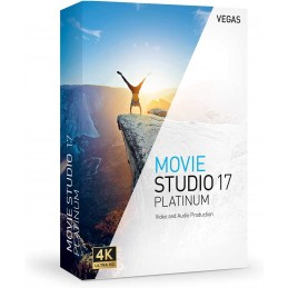 VEGAS Movie Studio 17 Platinum - 1 PC Win 10 64bits Licence Perpétuelle - Multilingue