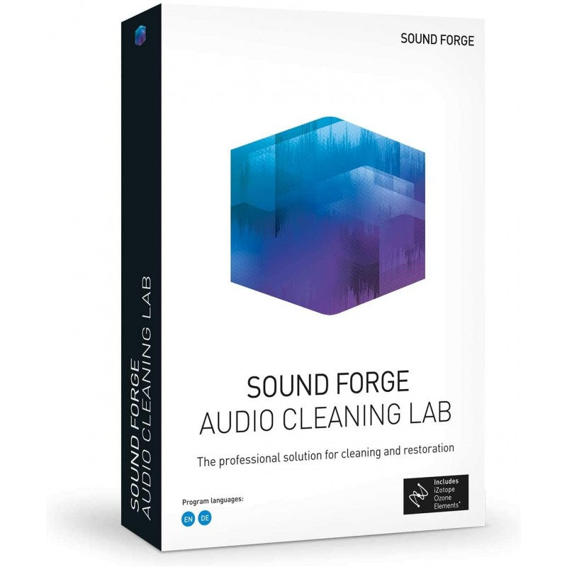 SOUND FORGE Audio Cleaning Lab 1 PC Win 7, 8, 10, 64bits Licence Perpétuelle