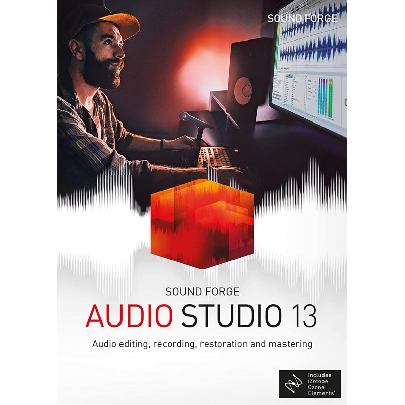 SOUND FORGE Audio Studio 13, 1 PC Win 7, 8, 10, 32/64bits Lice