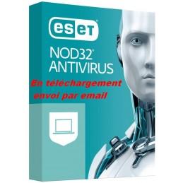 ESET NOD32 Antivirus 2021 ESD 1 PC - 1 an envoi par email