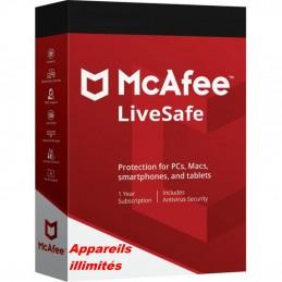McAfee® LiveSafe™ ESD - Appareils illimités 1 an de protection envoyé par email