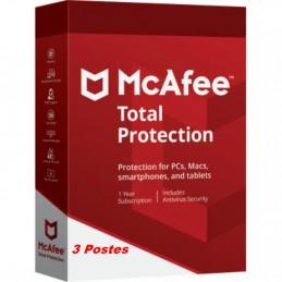 McAfee® Total Protection ESD - 3 Appareils (PC, Mac, Anroid, iOS) 1 an de protection envoyé par email