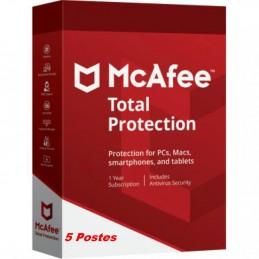 McAfee® Total Protection ESD - 5 Appareils (PC, Mac, Anroid, iOS) 1 an de protection envoyé par email