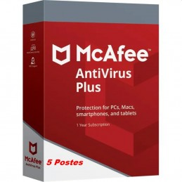 McAfee® Antivirus Plus ESD - 5 Appareils (PC, Mac, Anroid, iOS) 1 an de protection envoyé par email