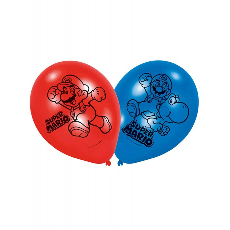 AMSCAN - LOT 6 Ballons de baudruche à gonfler Super Mario